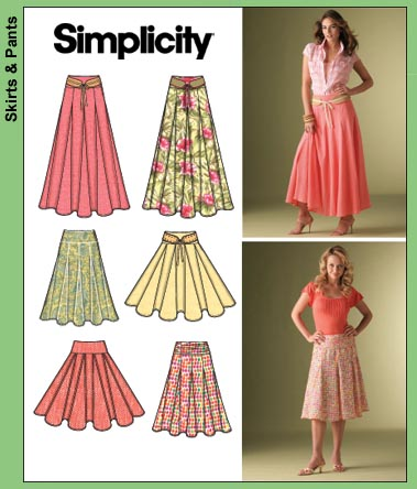 Simplicity Misses' Skirts 4188
