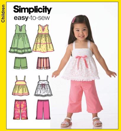 Simplicity Girls Top and Pants 4203
