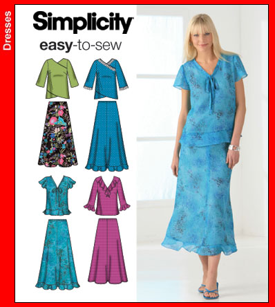 Simplicity Misses Top & Skirt 4221