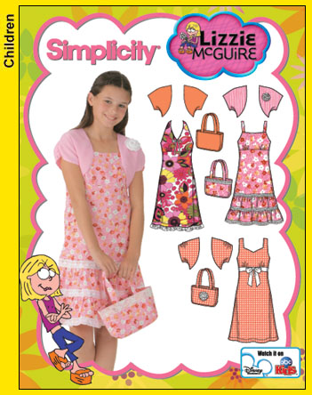 Simplicity Lizzie McGuire, Dress & Shrug 4255