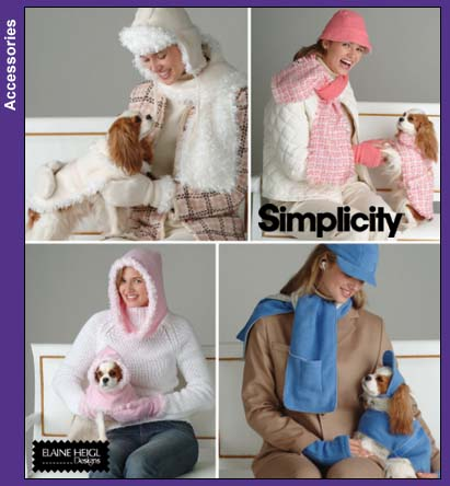 Simplicity 4316 Misses and Dog Accessories