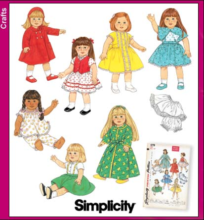 Simplicity 18 inch Doll Clothes 4347