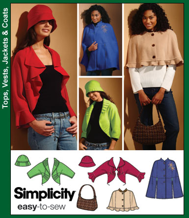 Simplicity Misses Shrugs and Capes 4428