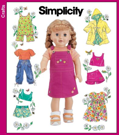 Simplicity 18 inch Doll Clothes 4654