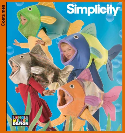 Simplicity 4926 kids fish costume sewing pattern for Kids fish costume