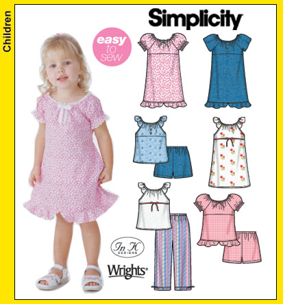 Simplicity Toddler's separates 5118