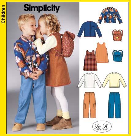 Simplicity Jacket, Knit Top, Pants, Jumpe 5284