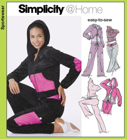 Simplicity 5353- Loungewear-hoodie & yoga pants