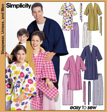 Simplicity Robes/PJs for the family 5364