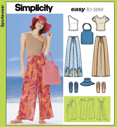Womens Knit Top and Wrap Sewing Pattern 2603 Simplicity