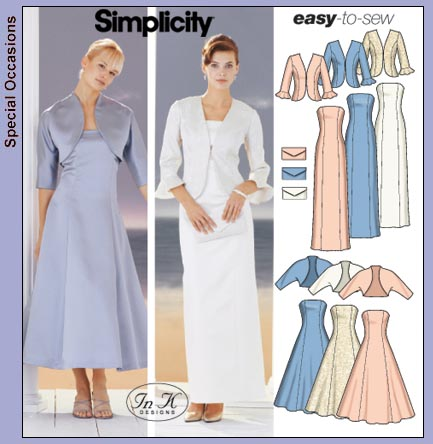 Simplicity Misses evening dress & jacket 5561