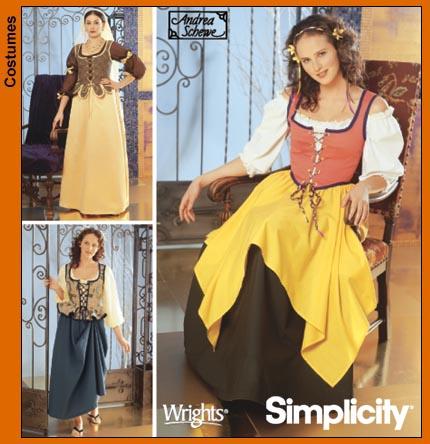 Simplicity Rennaissance Maidens 5582