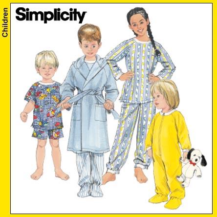 Simplicity Toddlers Sleepwear 5874