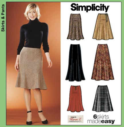 Simplicity Misses Skirts 5914