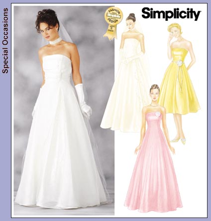Evening Dress Sale on Simplicity 7068   Formal Gown