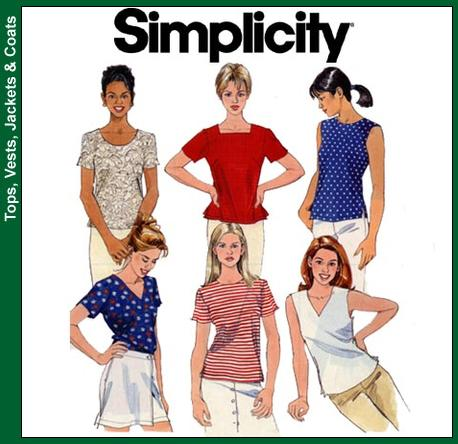 Simplicity Misses Tops 8523
