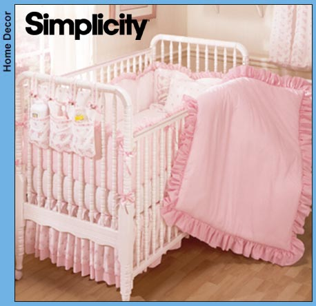 Items similar to Simplicity Crafts 9524 Baby Crib Set