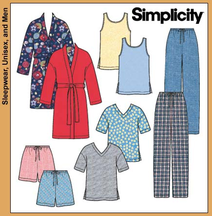 Simplicity Pajama Bottoms and Tank 9330