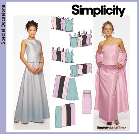 Simplicity top and skirt 9466