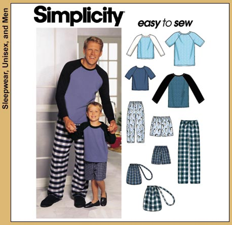 Simplicity Unisex Pajamas and knit top 9499