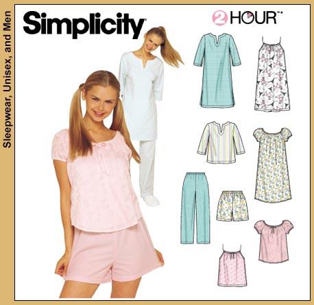 Simplicity Misses' Sleepwear 9505