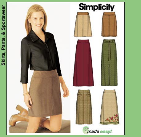 Simplicity 6 made easy skirts 9825