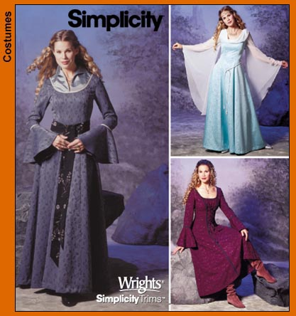 Simplicity Misses Costume Gowns 9891