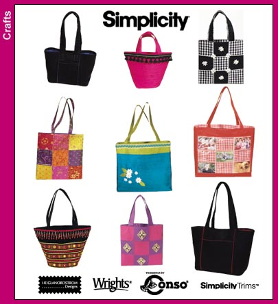 Simplicity Tote Bags and Purses 9963