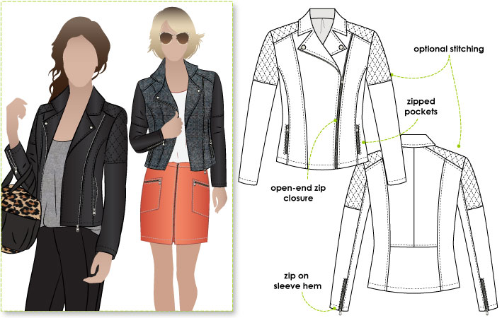 StyleArc Ziggi Biker Jacket Ziggi Jacket