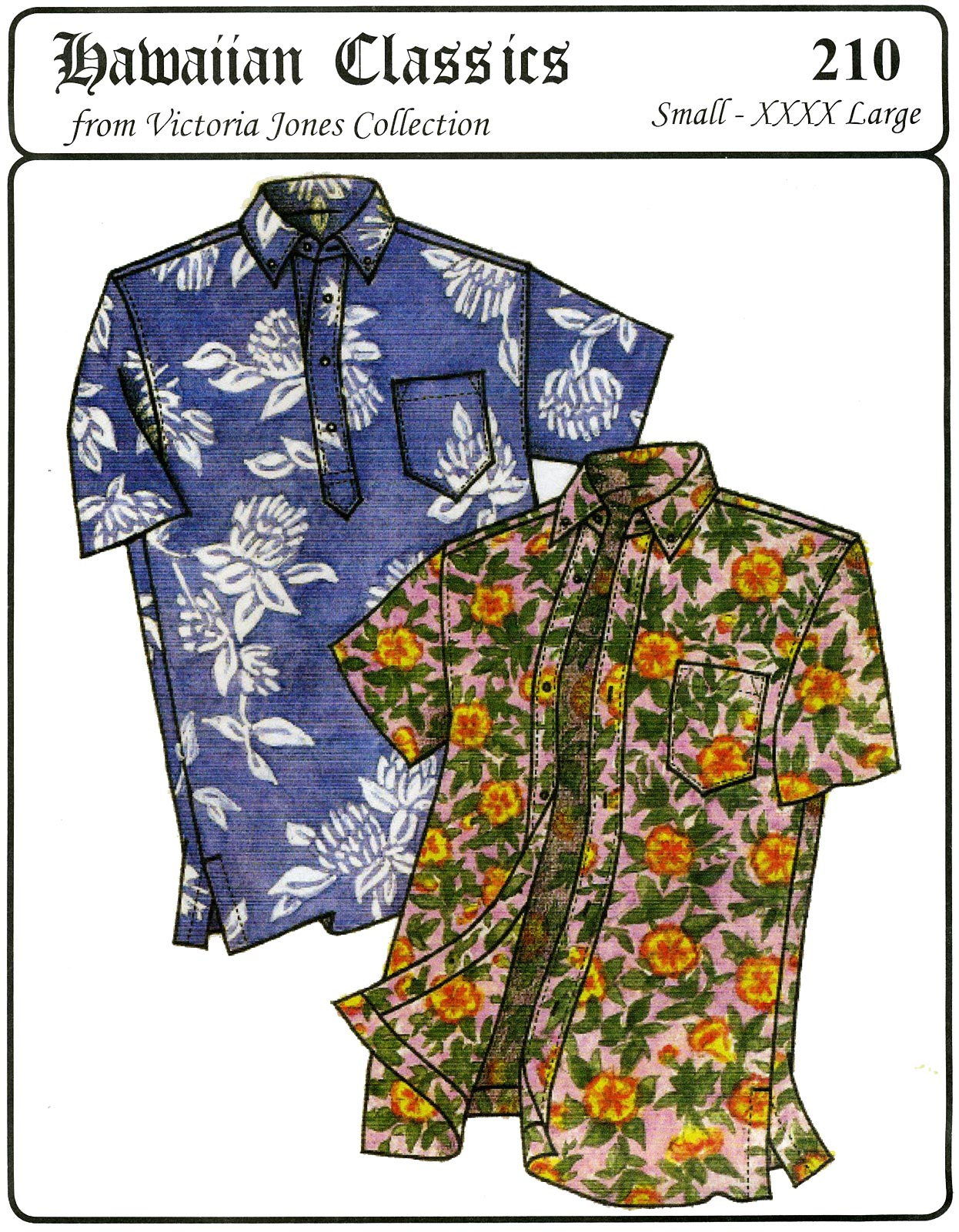 Victoria Jones Collection Men's Classic Hawaiian Businessman's Aloha Shirt 210