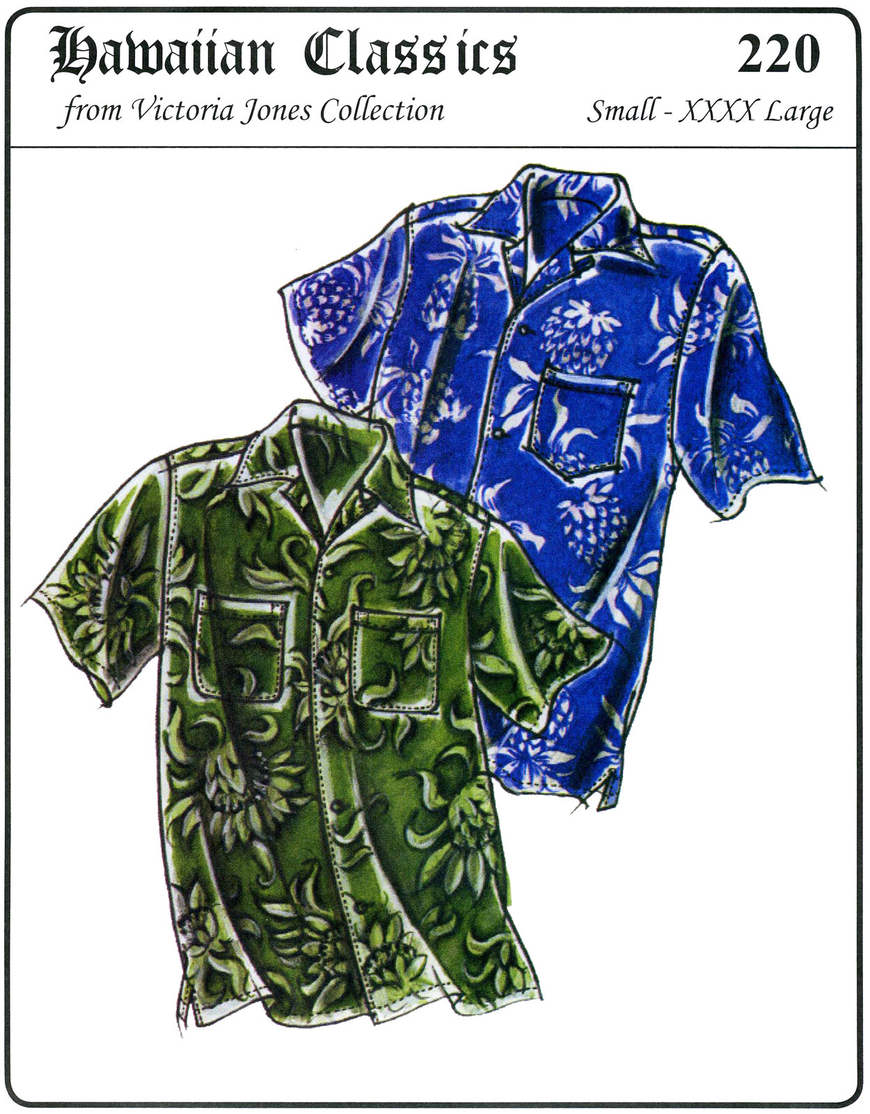 Victoria Jones Collection Men's Hawaiian Aloha Shirt 220
