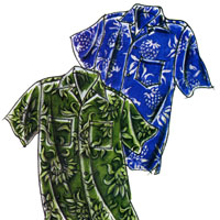 Victoria Jones Collection Men's Hawaiian Aloha Shirt