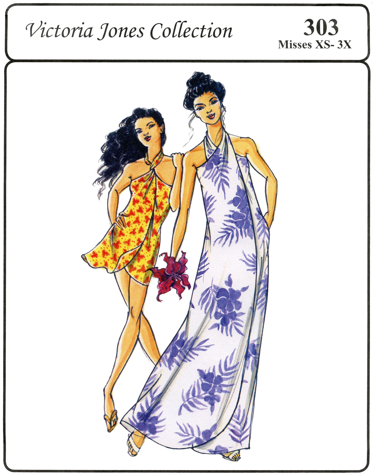 Victoria Jones Collection Misses' Pareau Style Wrap Dress 303