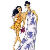 Victoria Jones Collection Misses' Pareau Style Wrap Dress