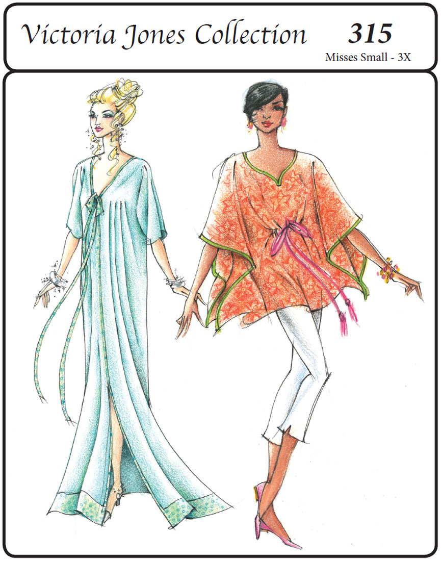 Victoria Jones Collection Misses' Long & Short Caftans 315