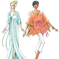 Victoria Jones Collection Misses' Long & Short Caftans