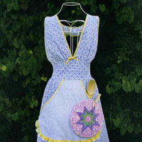 Victoria Jones Collection Busy Diva Apron and Star Potholder
