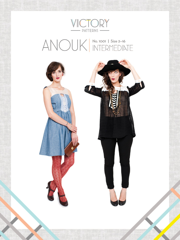 Victory Patterns Anouk Top and Dress 1001