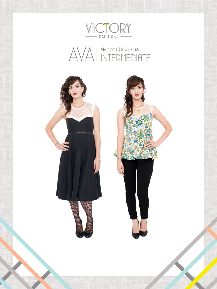 Victory Patterns Ava Top and Dress 1002