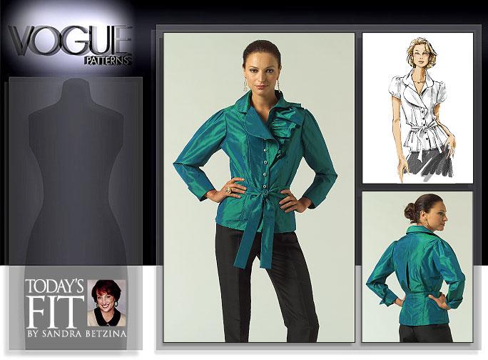Vogue Patterns MISSES' BLOUSE 1017