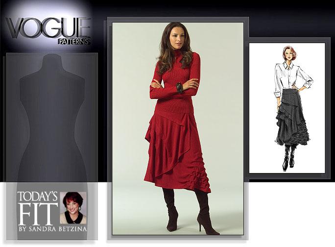 Vogue Patterns MISSES' SKIRT 1018