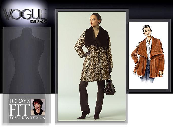 Vogue Patterns MISSES' COAT AND BELT 1024