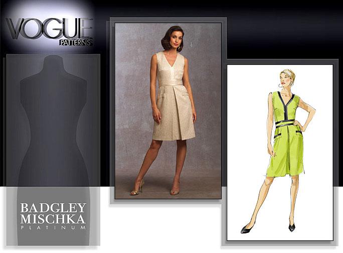 Vogue Patterns MISSES' DRESS AND BELT 1026