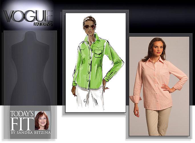 Vogue Patterns MISSES' SHIRT 1033