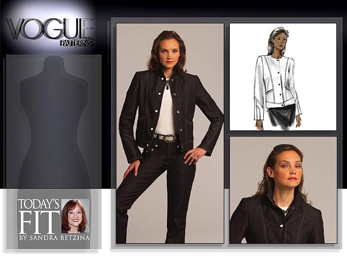 Vogue Patterns MISSES' JACKET 1036