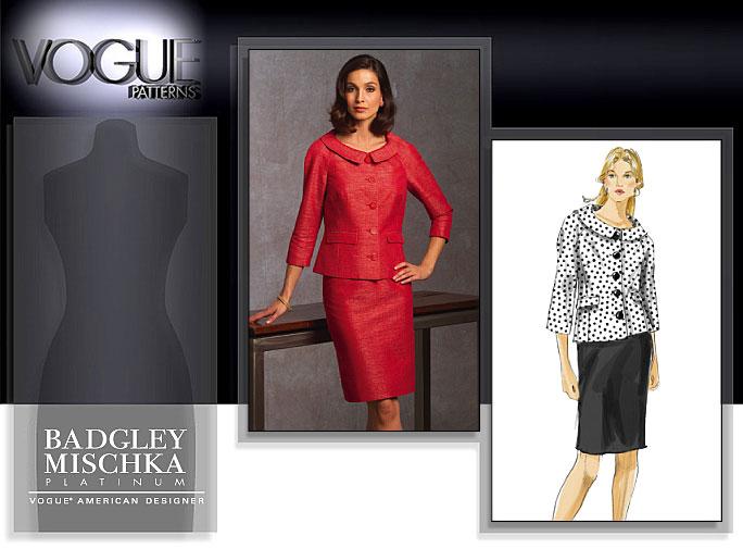 Vogue Patterns MISSES' JACKET AND SKIRT 1037