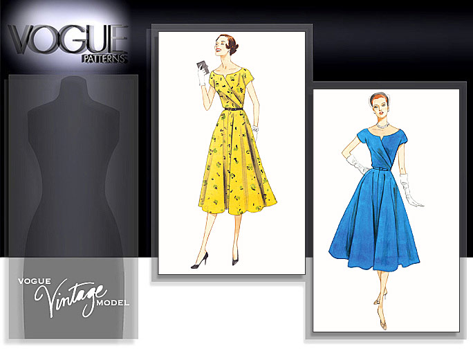 Vogue Patterns MISSES' DRESS AND BELT 1043