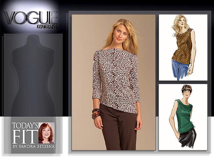 Vogue Patterns MISSES' TOP 1049