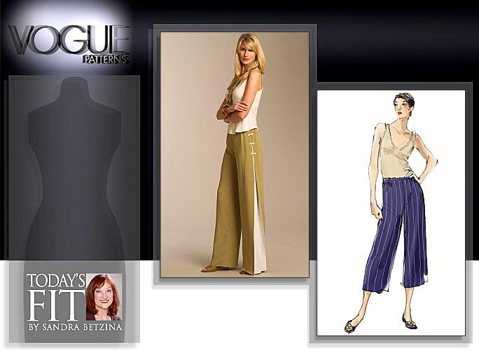 Vogue Patterns MISSES' PANTS 1050