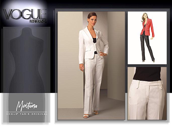 Vogue Patterns MISSES' JACKET AND PANTS 1053